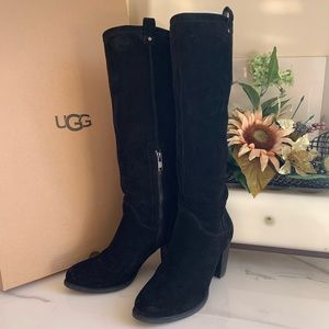 UGG Ava Suede Boots Black Size 9 wide